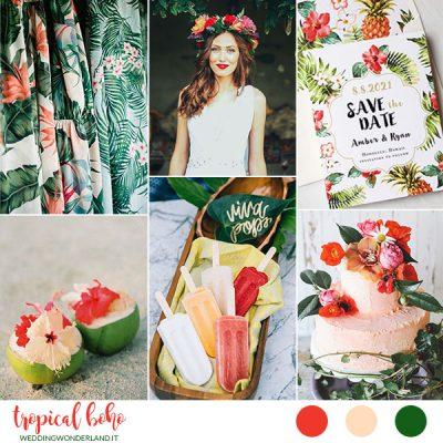 Inspiration board: Tropical Boho