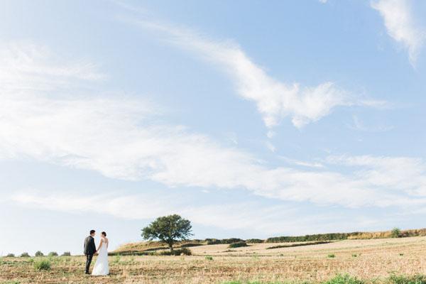 Giallo e verde per un matrimonio bucolico