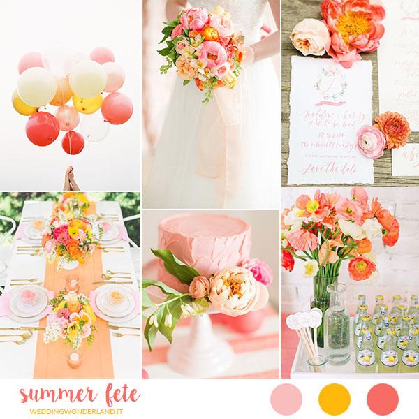 Matrimonio Azzurro E Arancione : Summer fête un matrimonio estivo corallo rosa e arancione