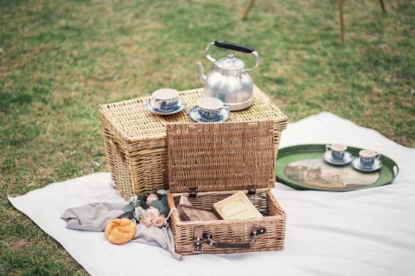 picnic boho vintage matrimonio