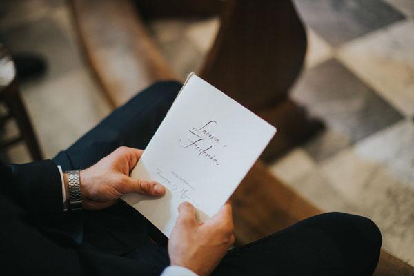 libretto messa calligrafico