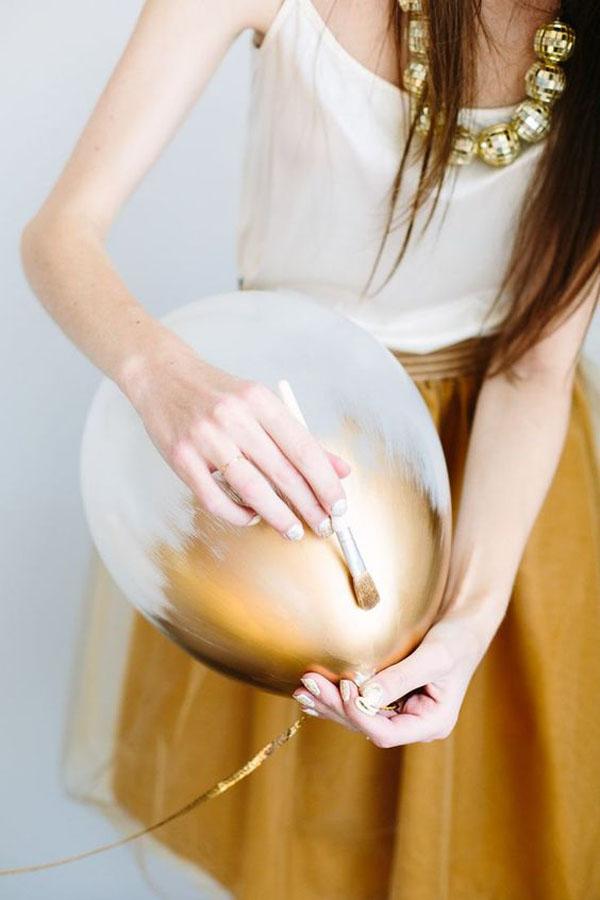 palloncini oro fai da te