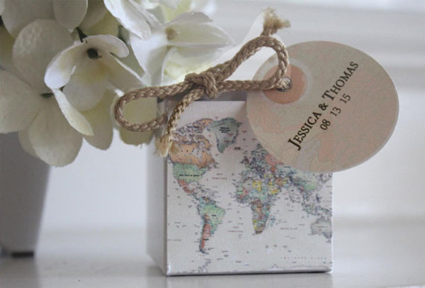 sacchetti bomboniere matrimonio a tema viaggi