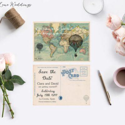 20 idee handmade per un matrimonio a tema viaggi