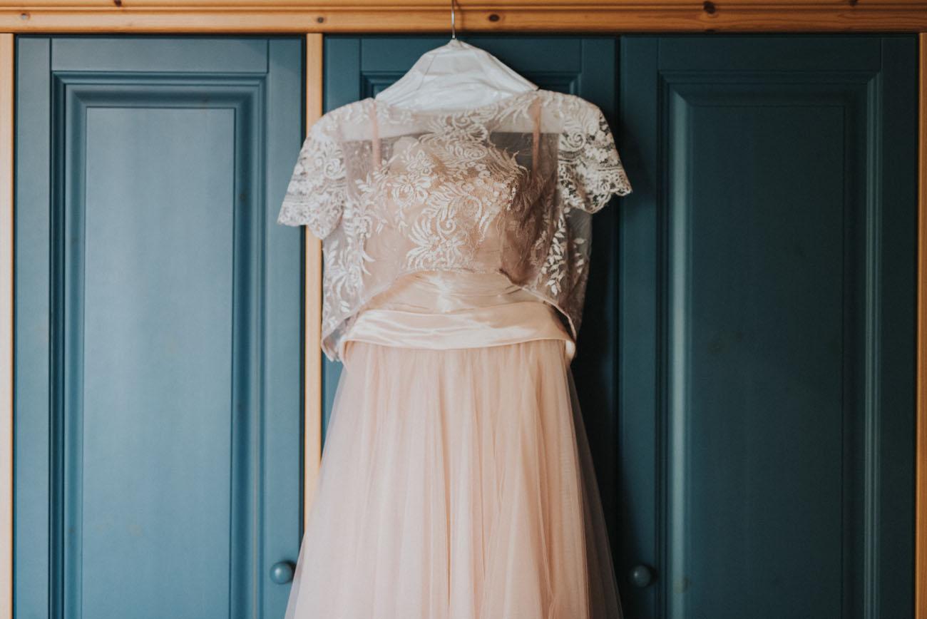 abito da sposa rosa cipria cymbeline