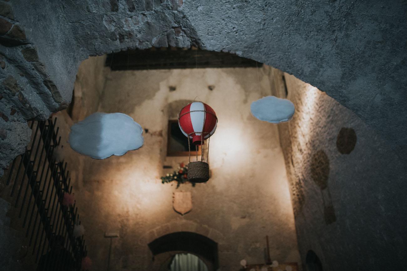 mongolfiera come decorazione matrimonio