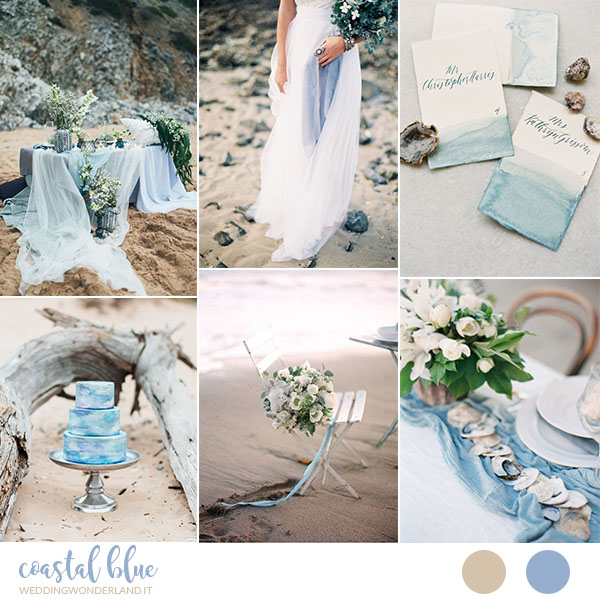 matrimonio azzurro sulla spiaggia