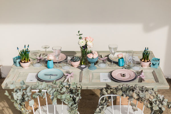 matrimonio boho chic azzurro e rosa | lisa di giglio | wedding wonderland 17