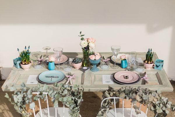 matrimonio boho chic azzurro e rosa   lisa di giglio   wedding wonderland 17