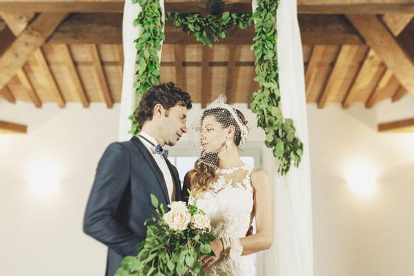 Un matrimonio vintage e organico