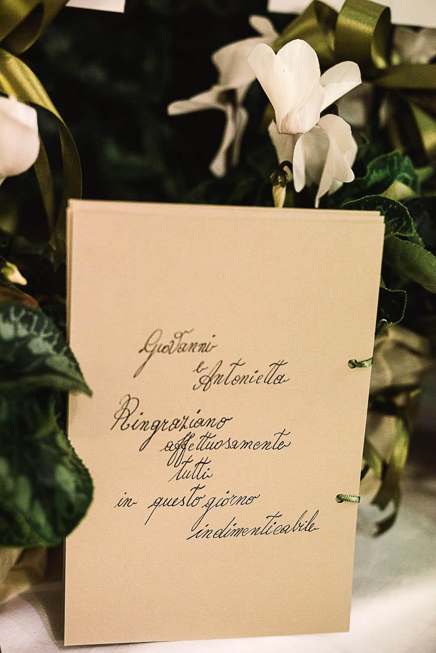 cartello di ringraziamento matrimonio