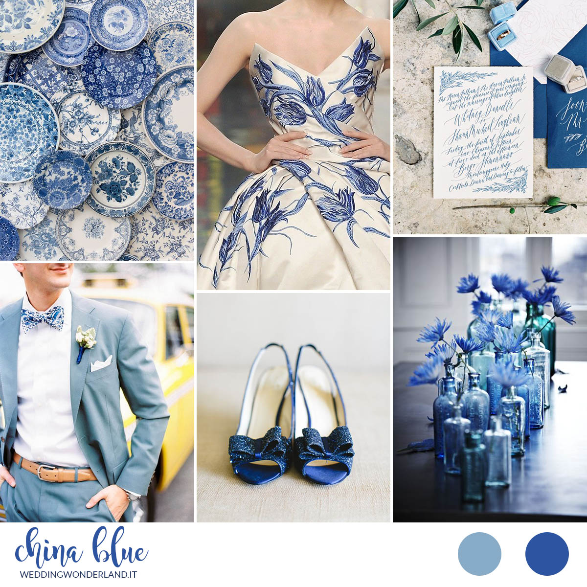 Matrimonio In Blu : Inspiration board china blue un matrimonio blu floreale