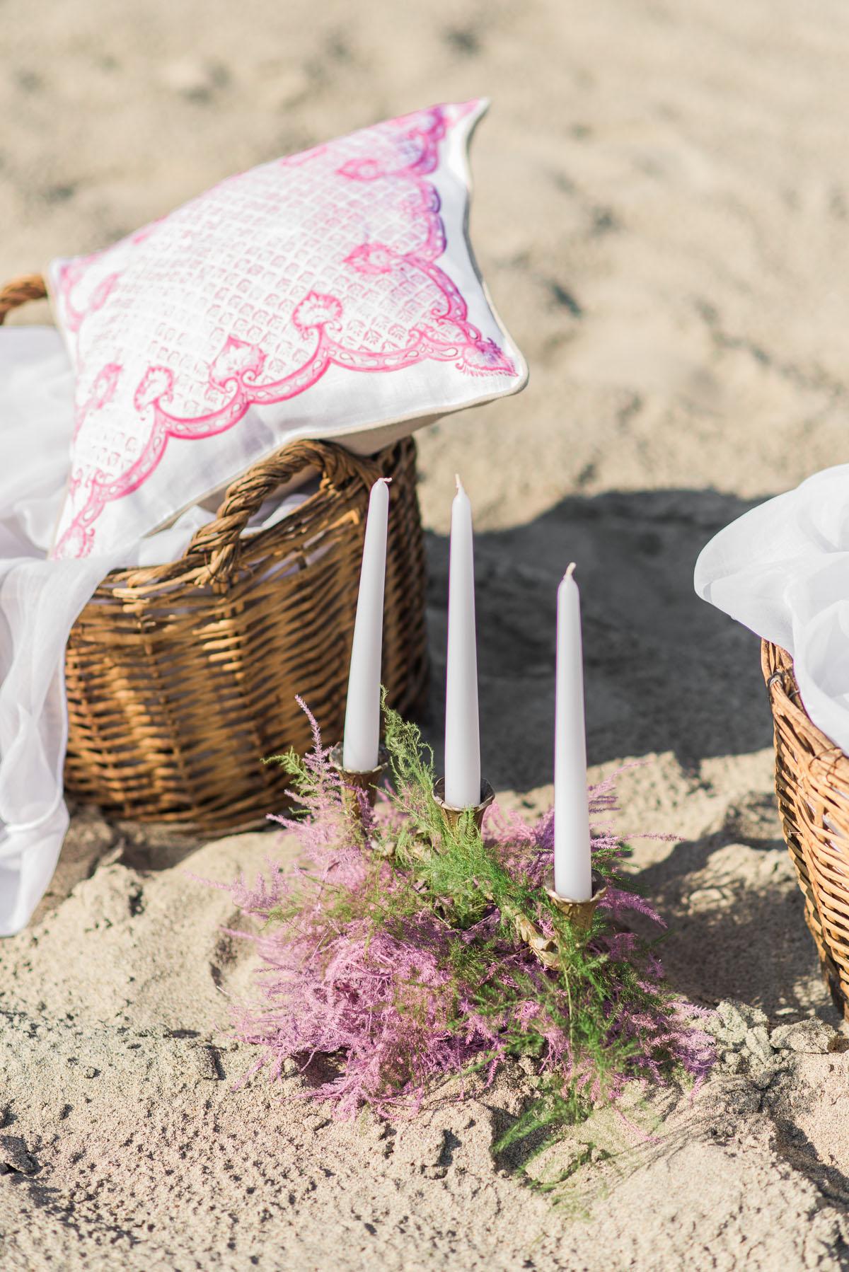allestimento matrimonio boho chic sulla spiaggia