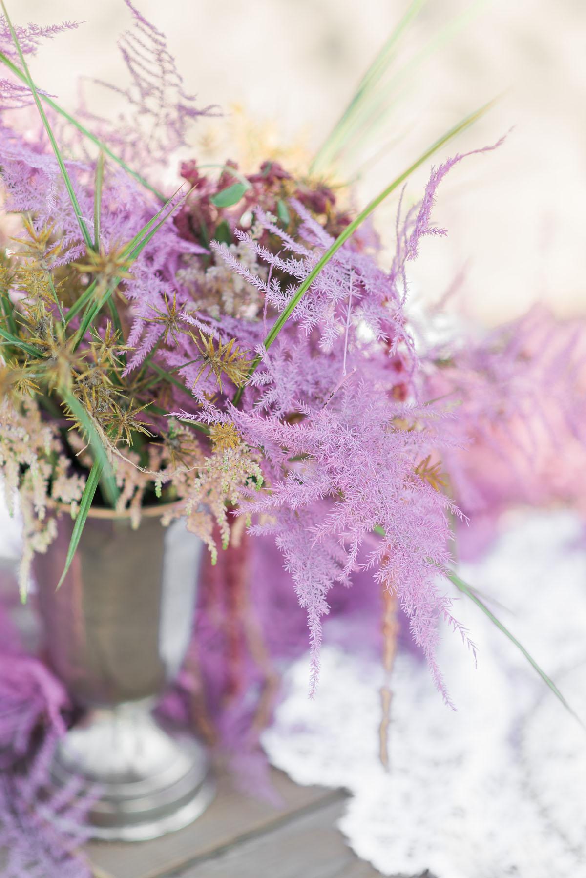 fiori rosa per matrimonio boho chic