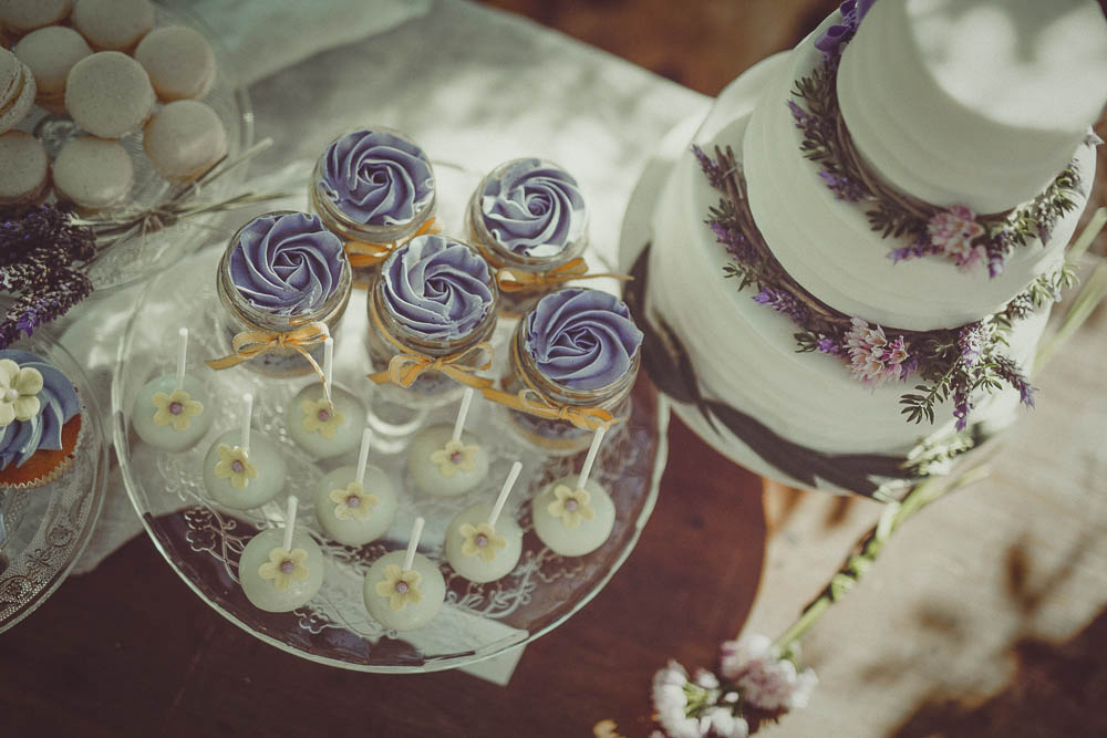 sweet table a tema lavanda