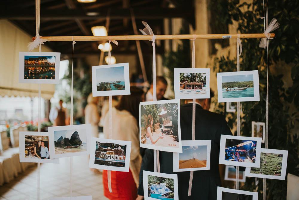 allestimento matrimonio con foto degli sposi