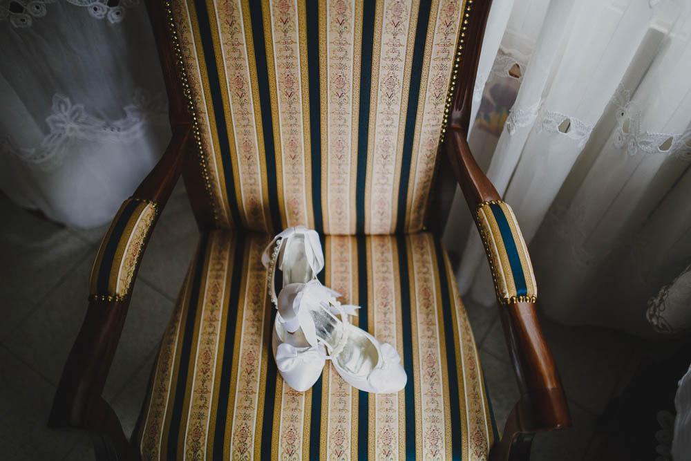 scarpe da sposa con fiocco