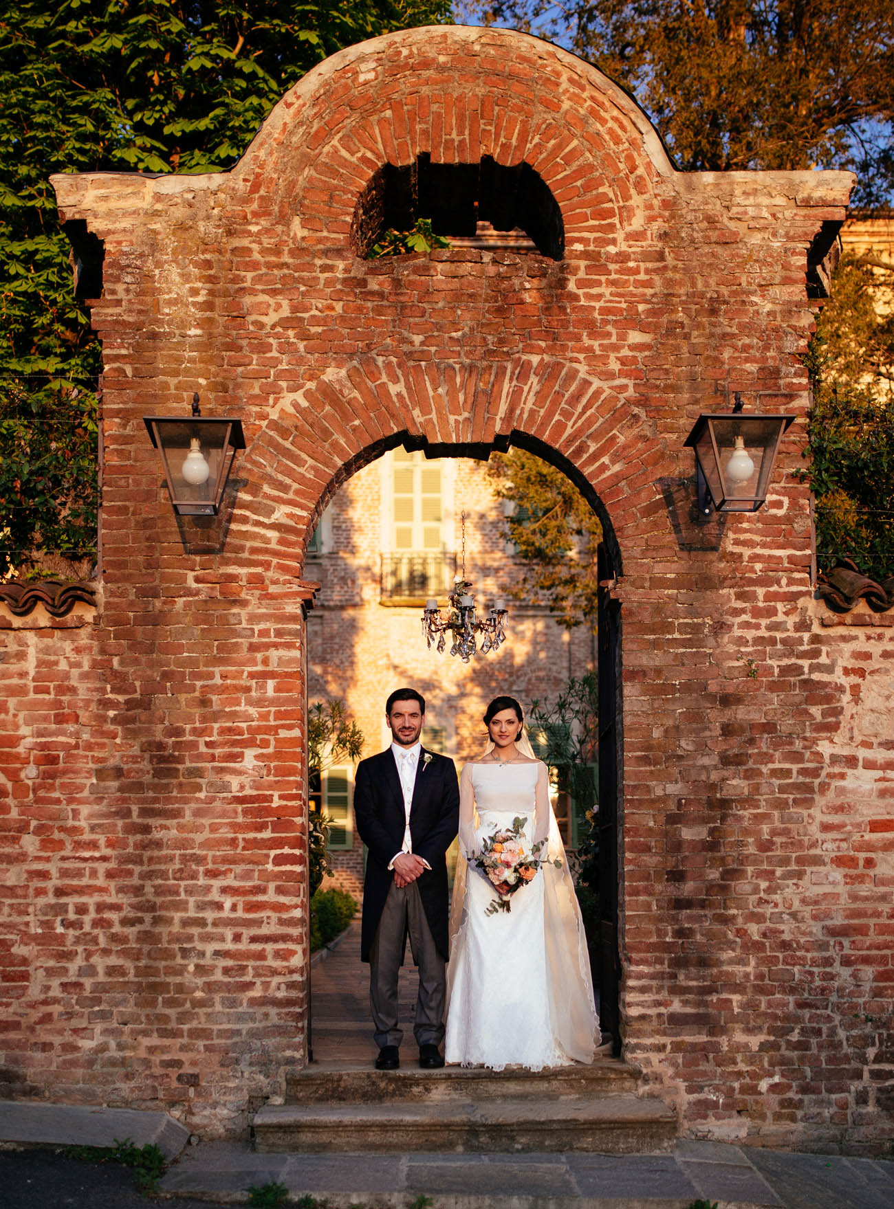 matrimonio romantico in villa