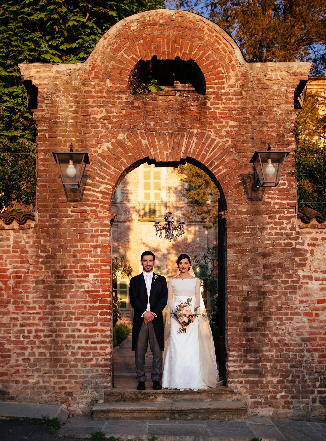 matrimonio romantico in villa