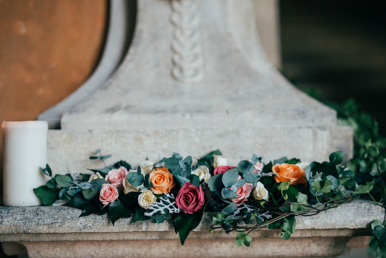 ghirlanda di fiori e foliage