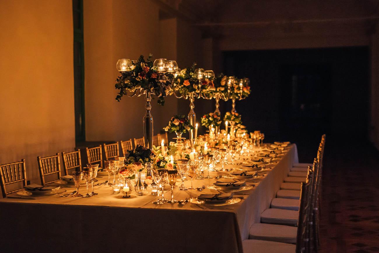tavolo imperiale a lume di candela