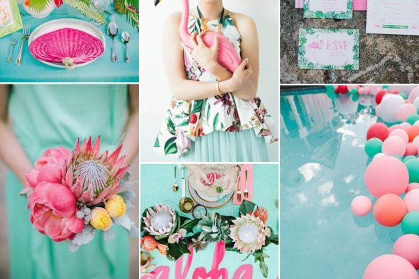 Inspiration board: Flamingos and Proteas