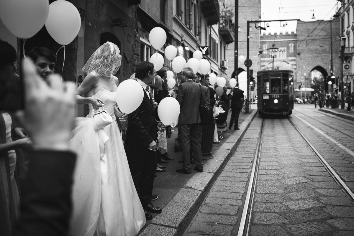 matrimonio in tram