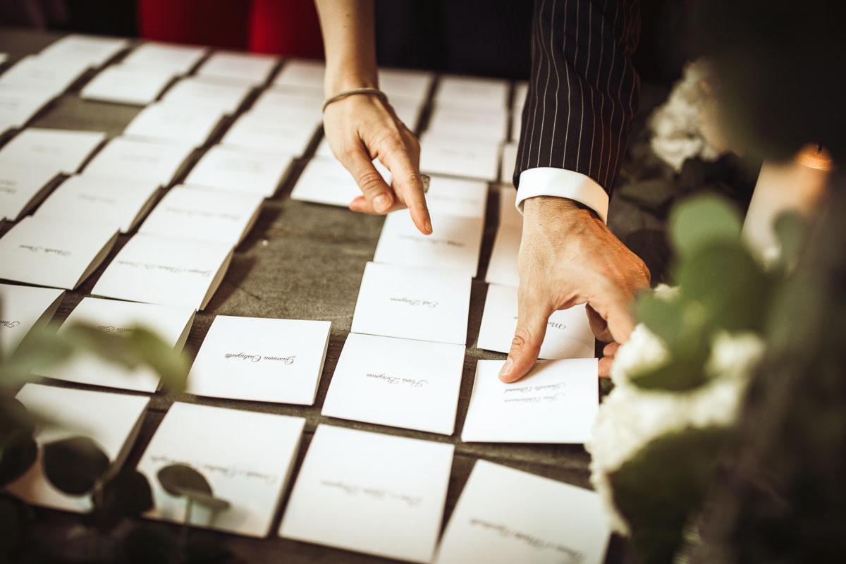 escort card matrimonio