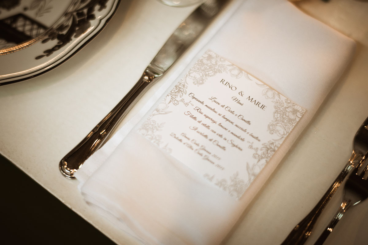 menu matrimonio chic