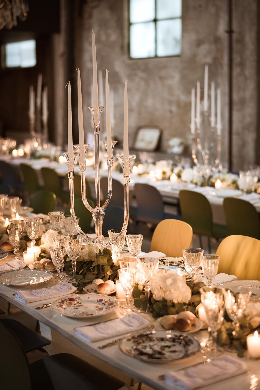 tavola matrimonio industrial chic