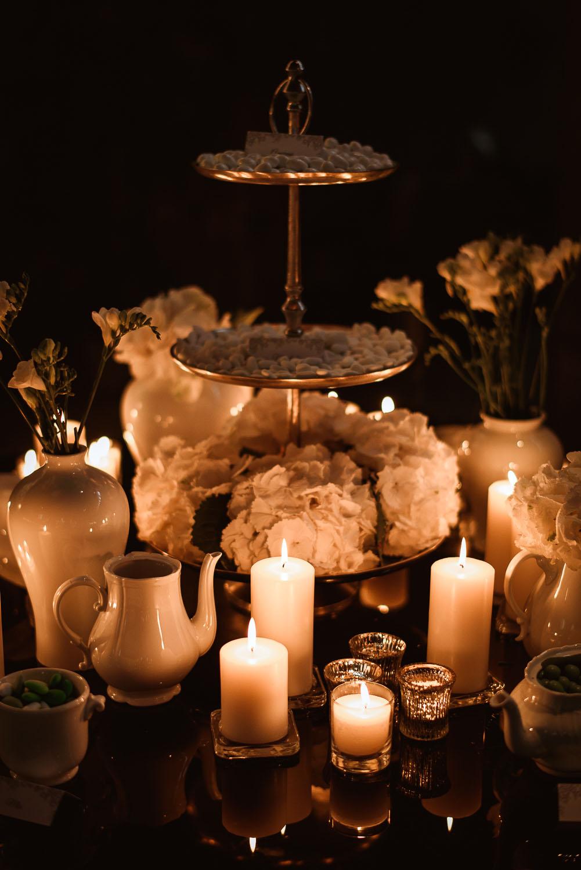 confettata e a lume di candela