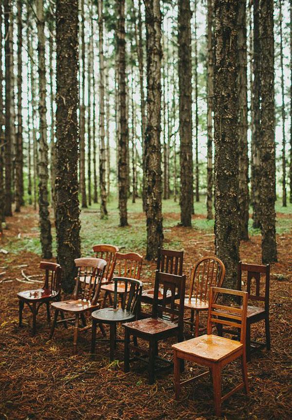 sedie vintage matrimonio