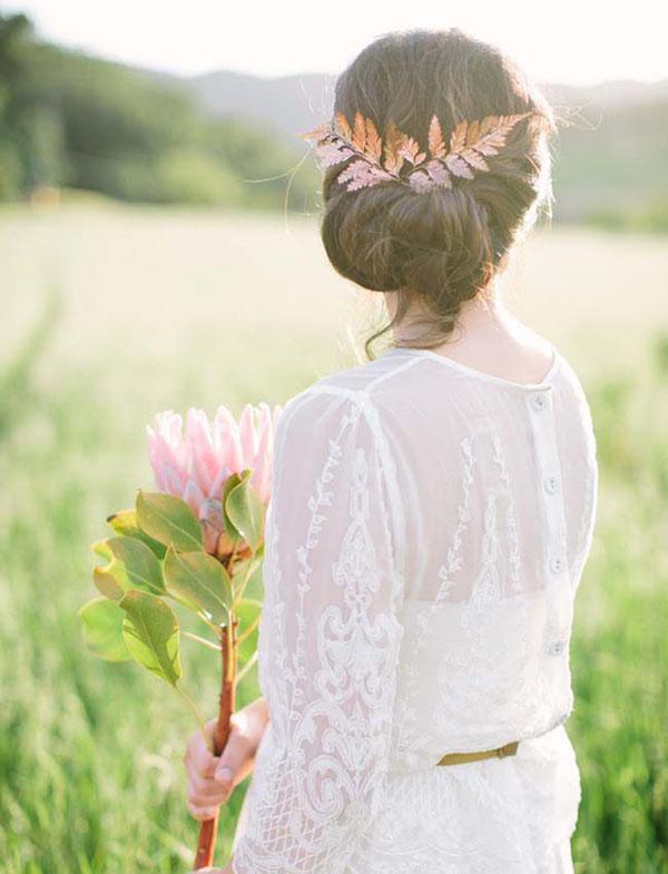 accessorio capelli sposa rame