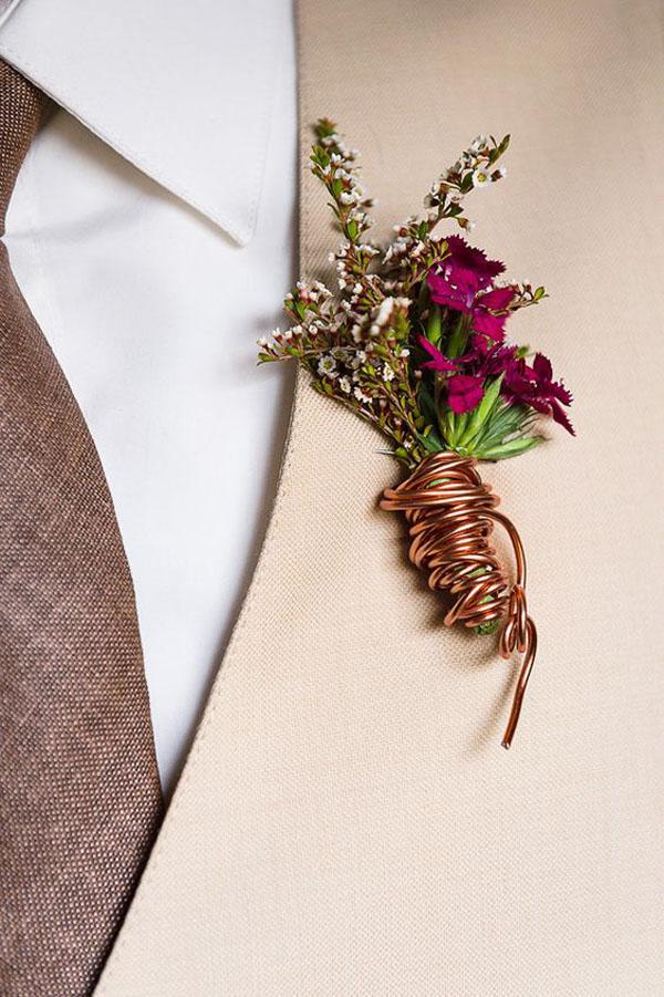 bottoniera sposo in rame