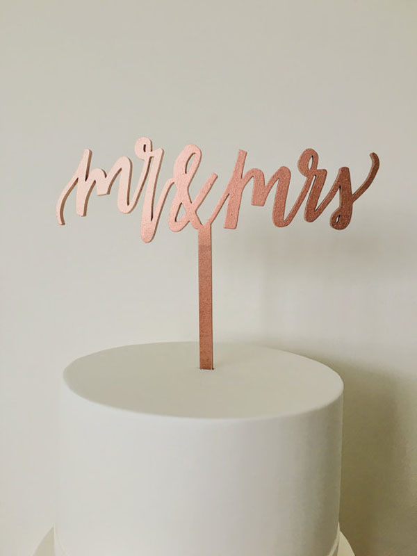 cake topper mr & mrs rame