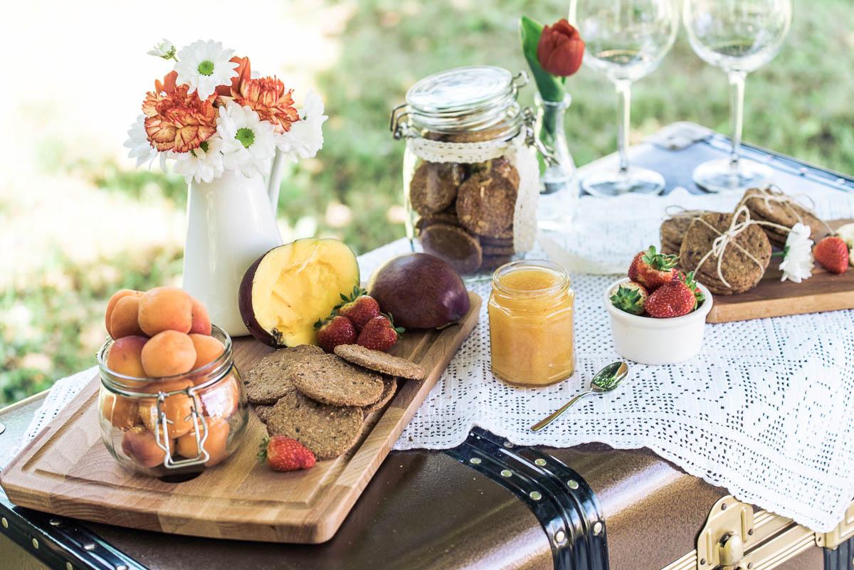 picnic vintage a tema viaggi