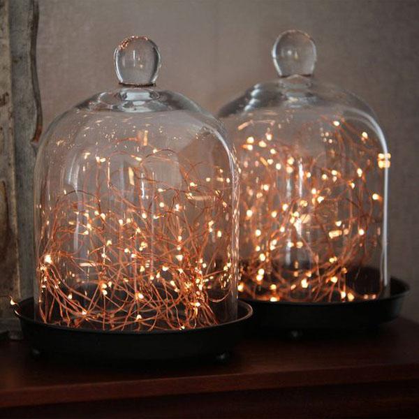 luminarie in rame come decorazione matrimonio