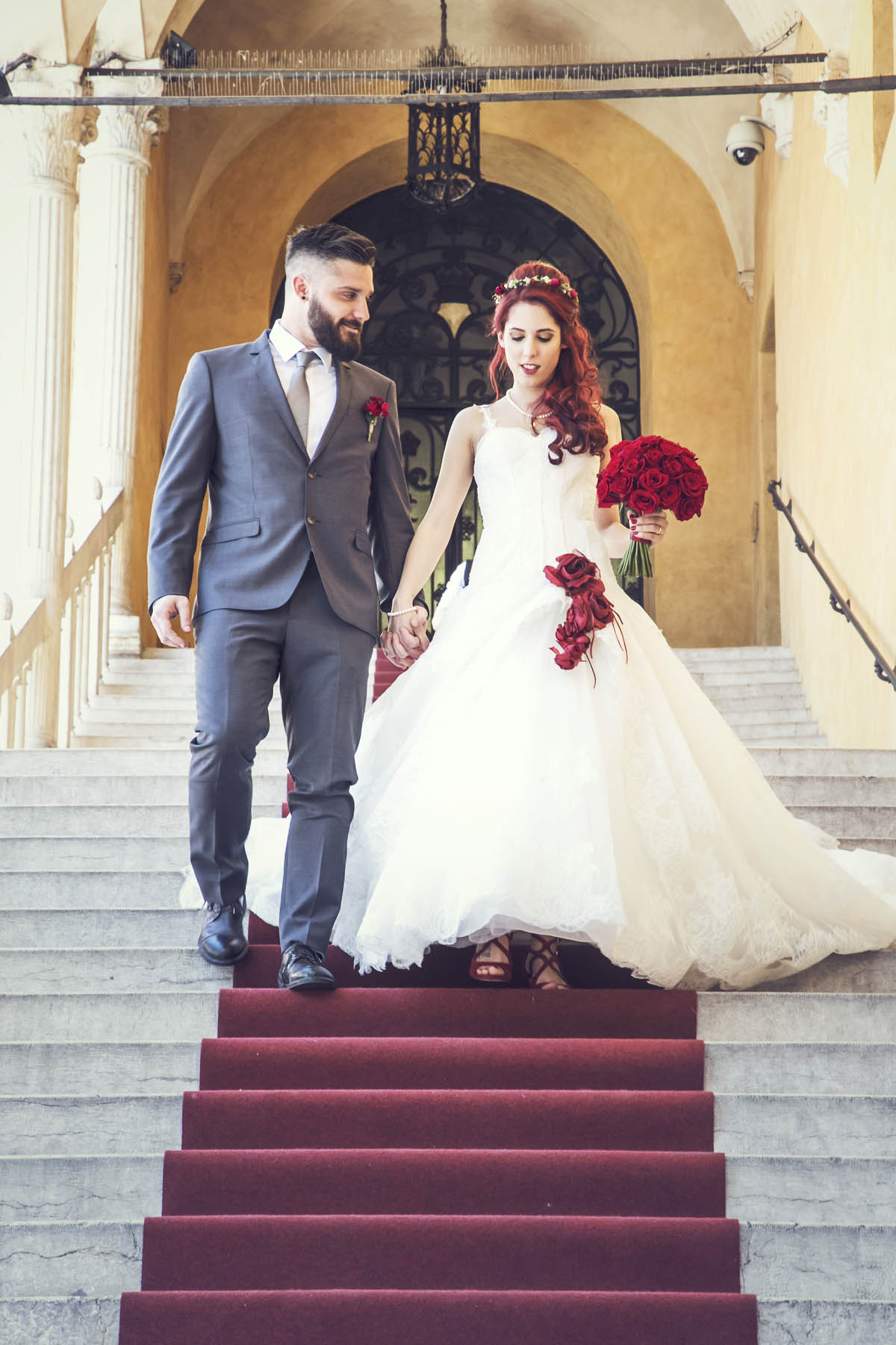 matrimonio in rosso a tema fragole e ciliege