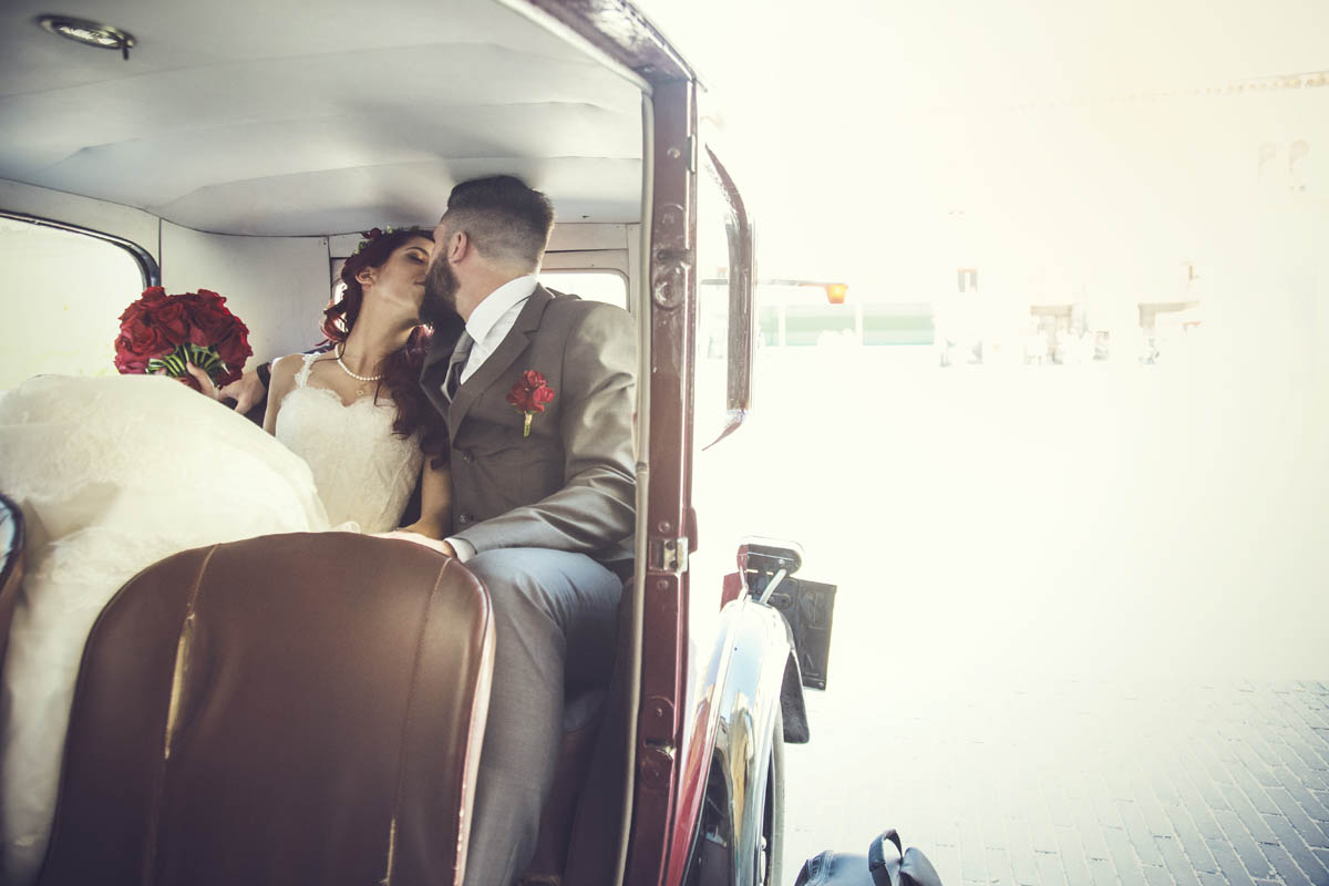 matrimonio country in rosso