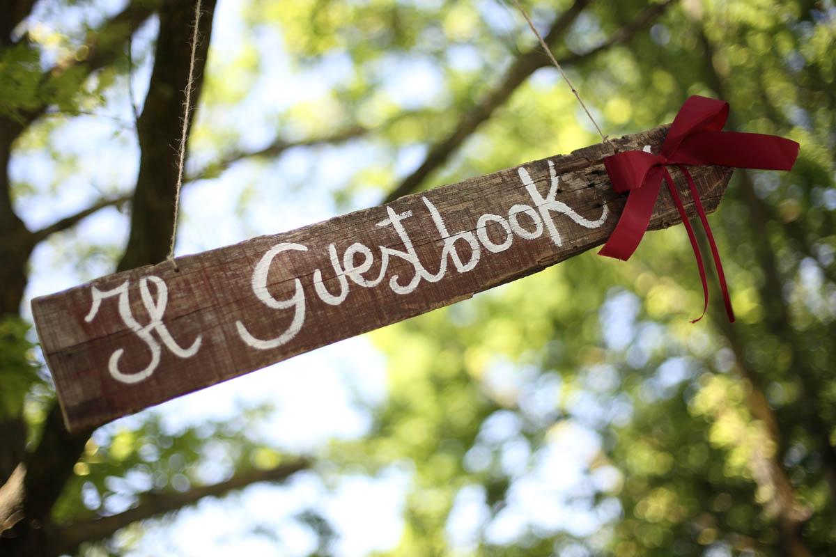 cartello guestbook matrimonio country