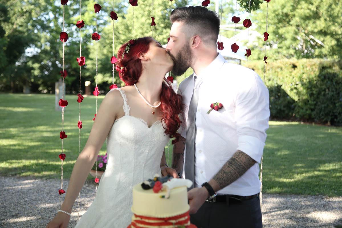 matrimonio a tema fragole e ciliegie