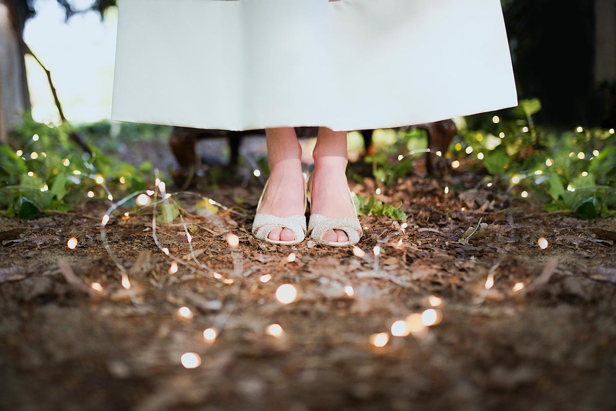 scarpe sposa glitter