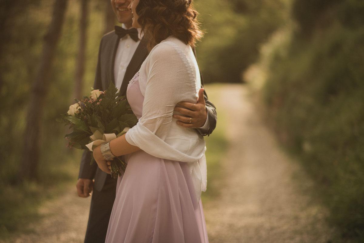 matrimonio boho chic nel bosco