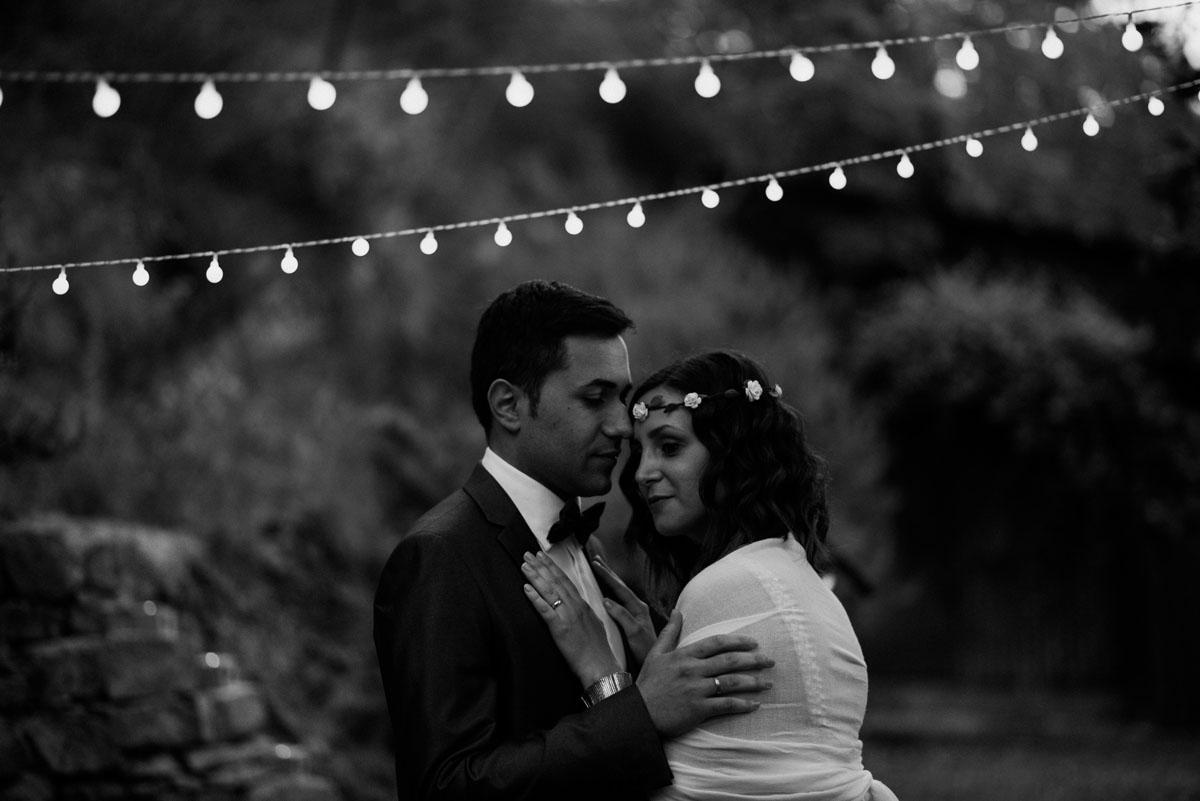 luminarie per matrimonio all'aperto