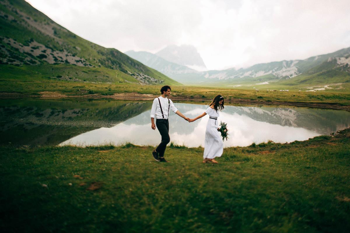 matrimonio boho chic in montagna
