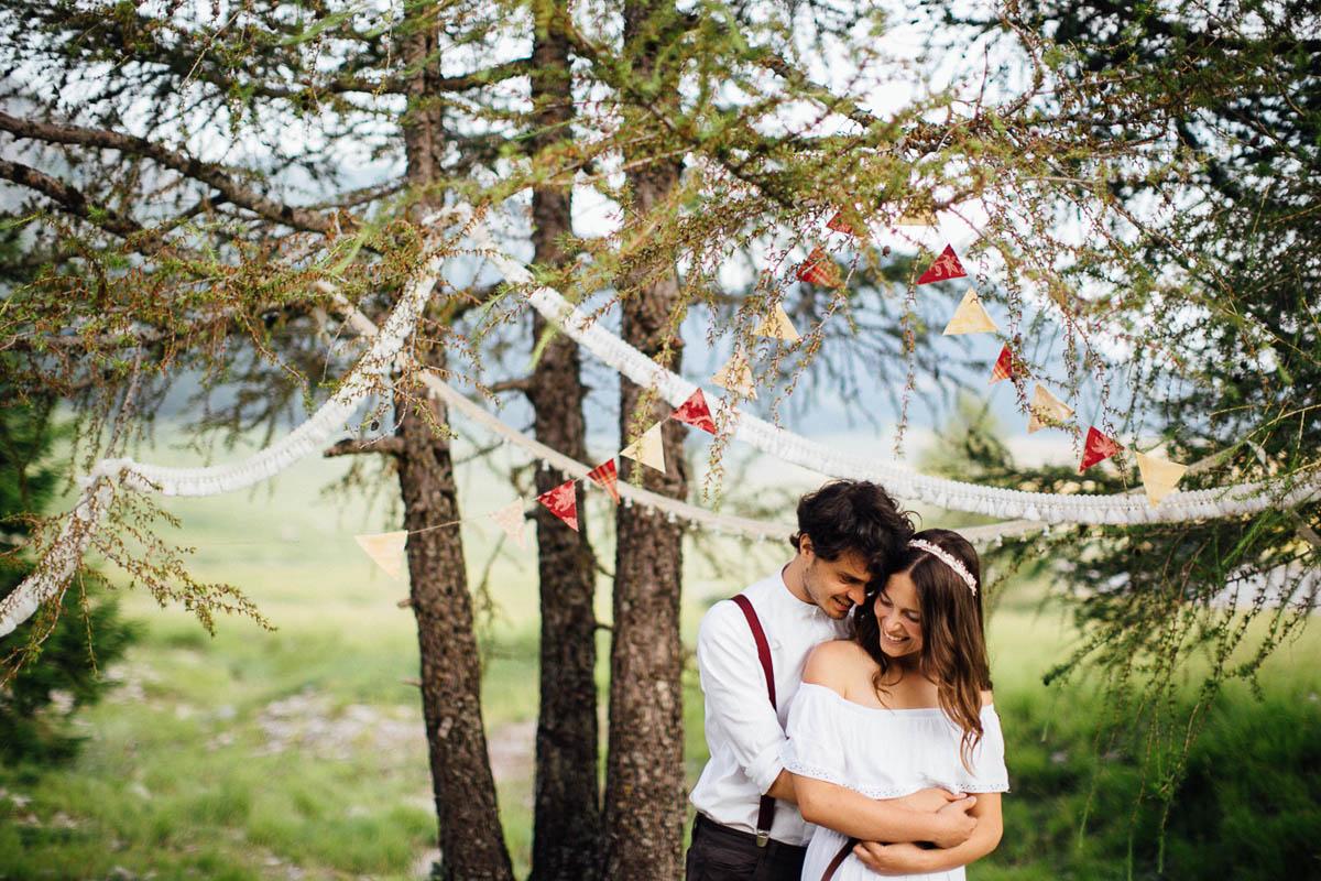 matrimonio boho vintage in montagna