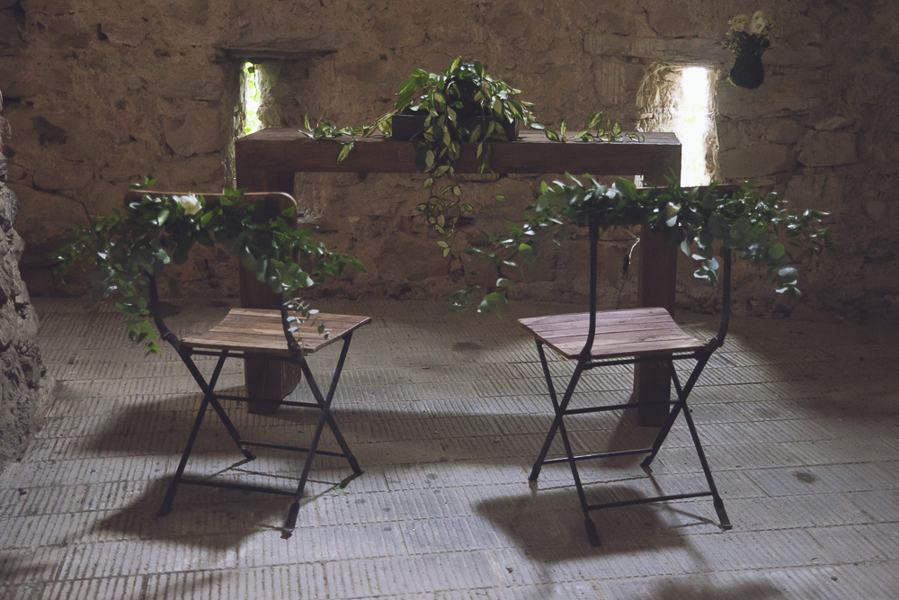 allestimento cerimonia matrimonio botanico