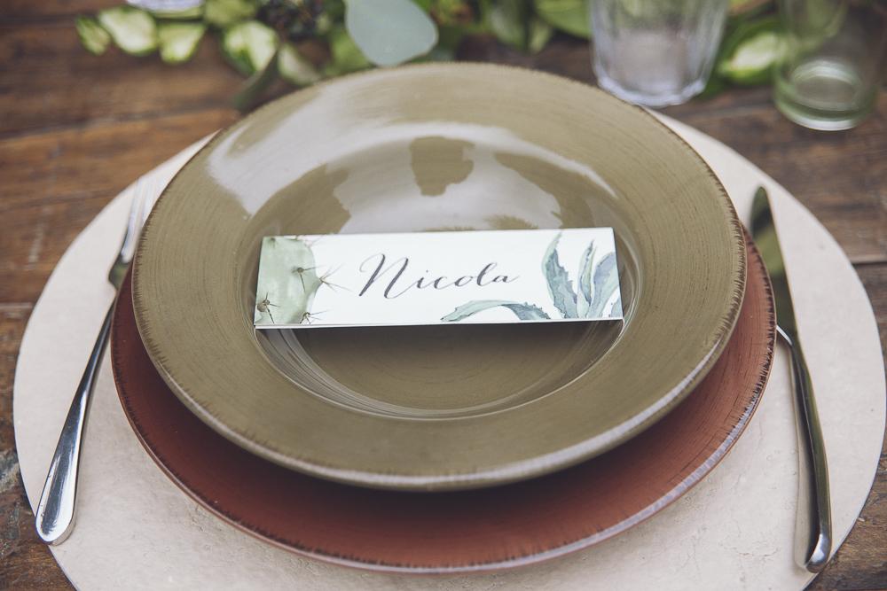 segnaposto matrimonio botanico