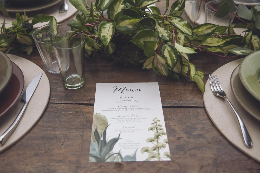 menù matrimonio botanico