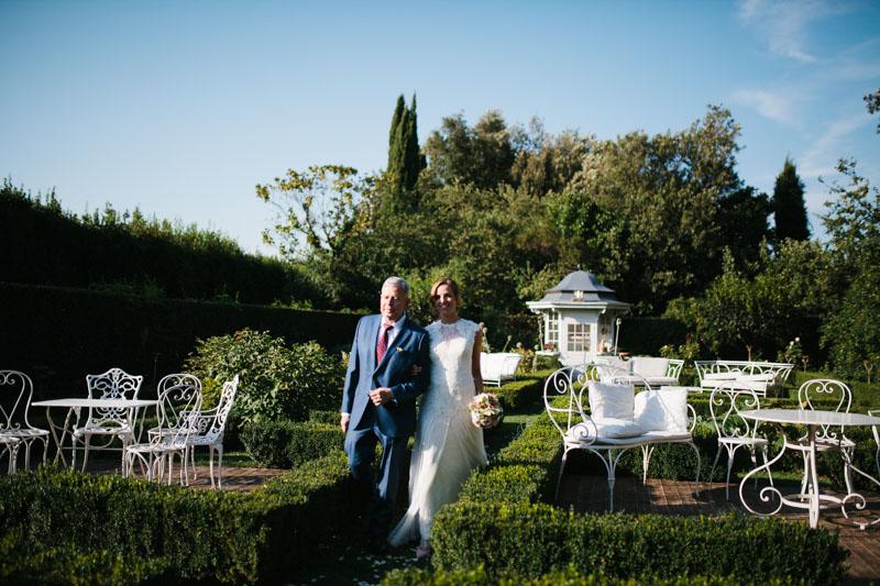 cerimonia all'aperto a villa rosantica, roma